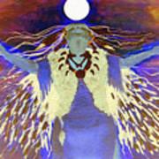 Praying Goodnight To The Moon Art Print