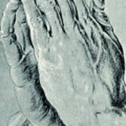 Praying Hands, Also Known As Study Of The Hands Of An Apostle  Art Print