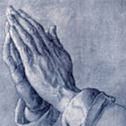 Praying Hands, Art By Durer Art Print by Sheila Terry