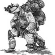 Praying Soldier Art Print