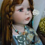 Pre Raphaelite Doll  Art Print