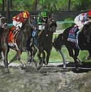 Preakness 2010 Horse Racing Art Print