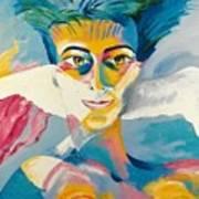 Preciada Azancot Self-portrait With A Dove Art Print