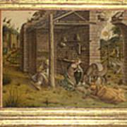 Predella Of La Madonna Della Rondine Art Print
