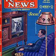 Predicting Television At Home, Radio Art Print
