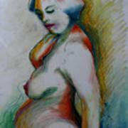 Pregnant Nude Art Print