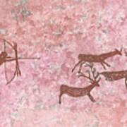 Prehistoric Hunter Art Print