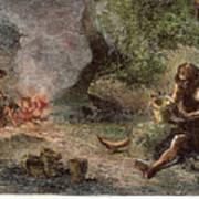 Prehistoric Man: Pottery Art Print