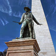 Prescott Statue On Bunker Hill Art Print