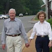 President And Mrs. Jimmy Carter Art Print