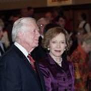 President And Mrs. Jimmy Carter Nobel Celebration Art Print