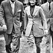 President Ayub Khan Left, Of Pakistan Print by Everett