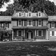 President James Buchanan's Wheatland In Black And White Art Print