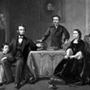 President Lincoln And His Family  Art Print by War Is Hell Store