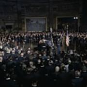 President Lyndon Johnson Lying In State Print by Everett