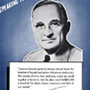 President Truman Speaking For America Art Print
