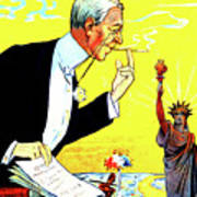 President Woodrow Wilson And The 15th Proposition For The League Of Nations Art Print