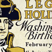 Presidents Day Vintage Poster Art Print