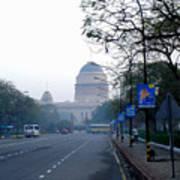 President's House At New Delhi Art Print