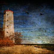 Presquile Lighthouse Art Print