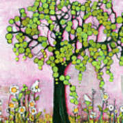 Pretty In Pink Paradise Tree Art Print