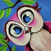 Pretty Pinky Owl Art Print