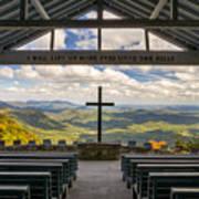 Pretty Place Chapel - Blue Ridge Mountains Sc Art Print
