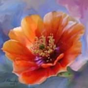 Prickly Pear Bloom Art Print