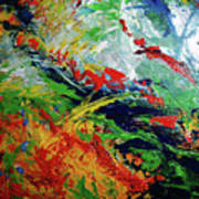 Primary Abstract I Detail 3 Art Print