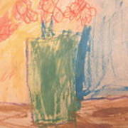 Primary Blooms Art Print