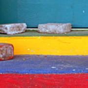 Primary Colored Doorstep Art Print