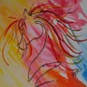 Primary Horse Art Print
