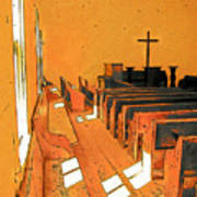 Primitive Church - Sunday Morning Art Print
