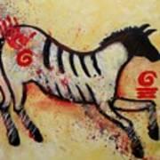 Primitive Little Horse Art Print