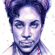 Prince Purple Watercolor Art Print