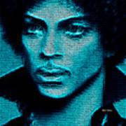 Prince - Tribute In Blue Art Print