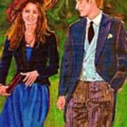Prince William And Kate The Young Royals Print by Carole Spandau