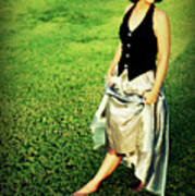 Princess Along The Grass Art Print