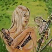 Princess And Frog Art Print