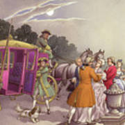 Princess Augusta, About To Give Birth, Was Bundled Into A Coach Art Print