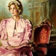 Princess Diana The Peoples Princess Art Print by Carole Spandau