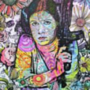 Princess Leia Flowers Art Print