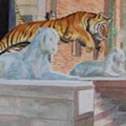 Princeton Tiger Art Print
