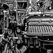 Printing Press Art Print by Kenneth Mucke