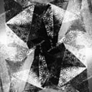 Prismatic Vision - Black And White Art Print