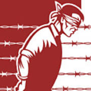 Prisoner Blindfolded Art Print