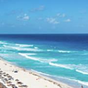 Pristine Beach In Cancun Art Print