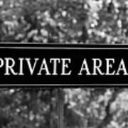 Private Area Sign Art Print