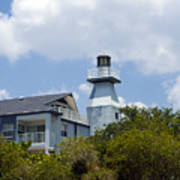 Private Lighthouse On The Indian River Lagoon In  Melbourne Florida Art Print