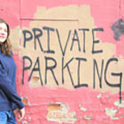 Private Parking. Art Print